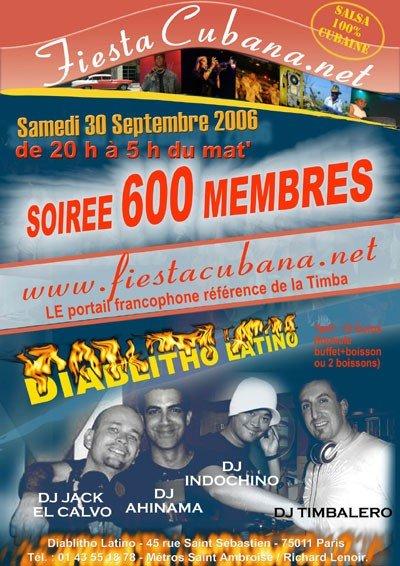 Soirée 600 membres